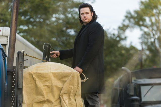 Eugene Porter stands alone in a scene from the Season 7 finale of 'The Walking Dead.'