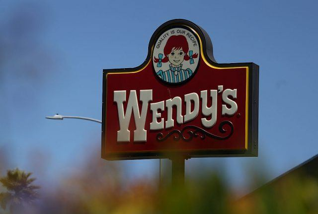 Wendy's sign.