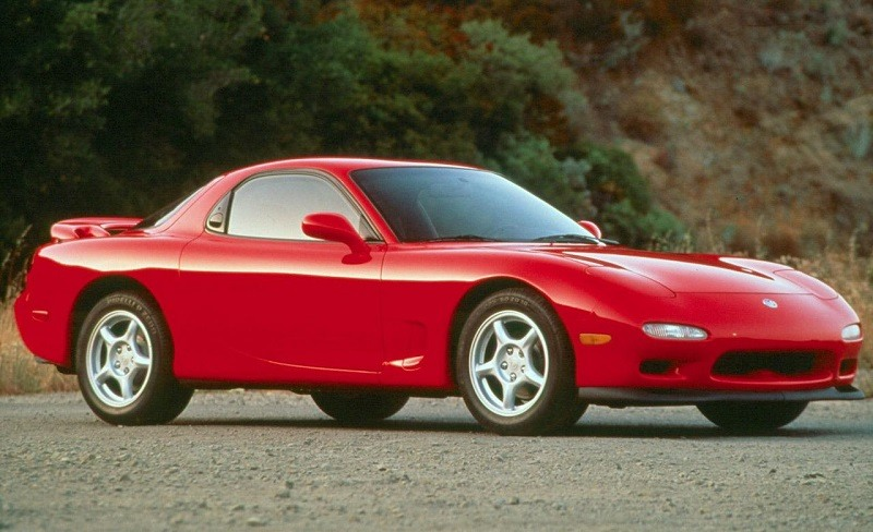 View of red Mazda RX-7 from 1993 model year