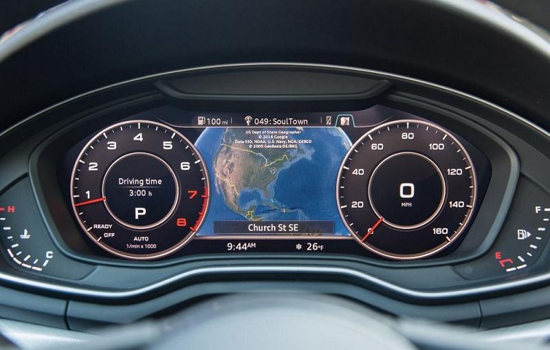Virtual cockpit of 2017 Audi A4