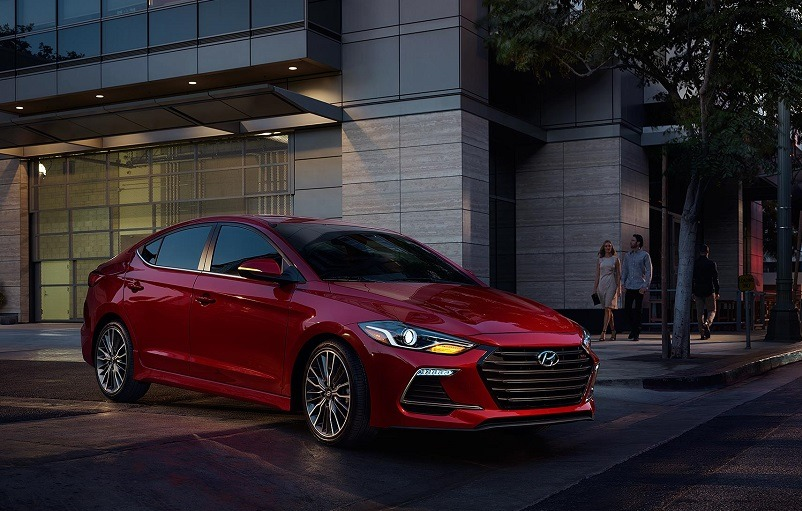 View of 2017 Elantra Sport in red