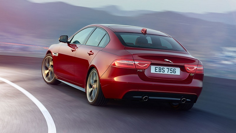 Rear view of 2017 Jaguar XE