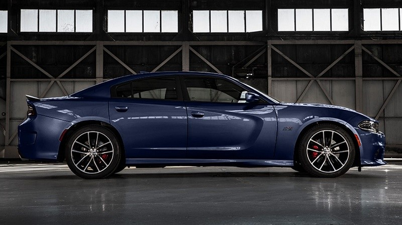 Side view of 2017 Dodge Charger with scat pack