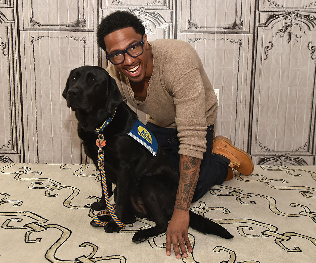 Nick Cannon and dog