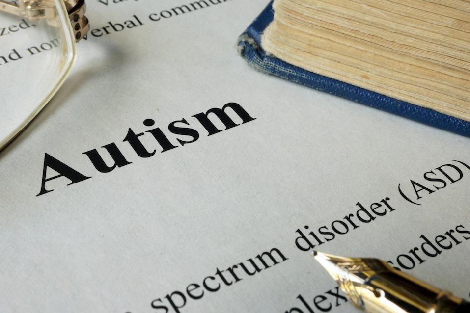 Autism spectrum disorder ASD written on a paper.