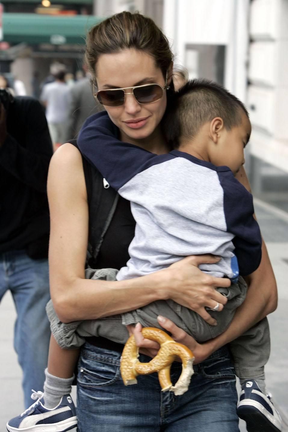 Angelina Jolie walks