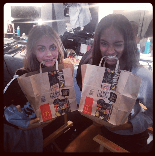 Cara Delevingne with McDonald's
