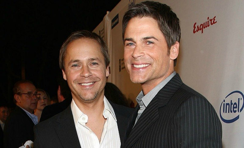 Chad and Rob Lowe pose together on the red carpet.