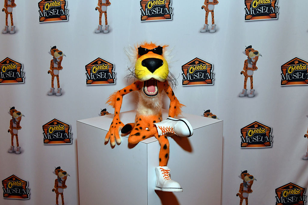 A Chester the Cheetah figure
