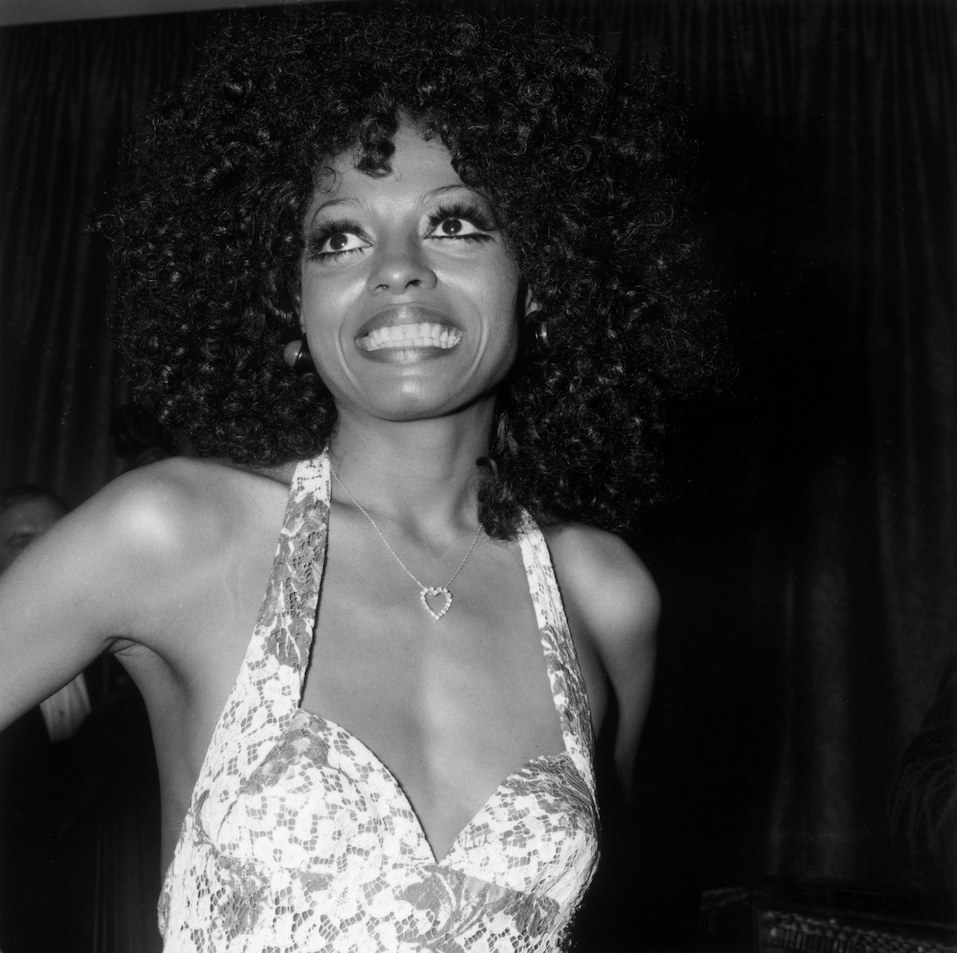 American pop singer Diana Ross