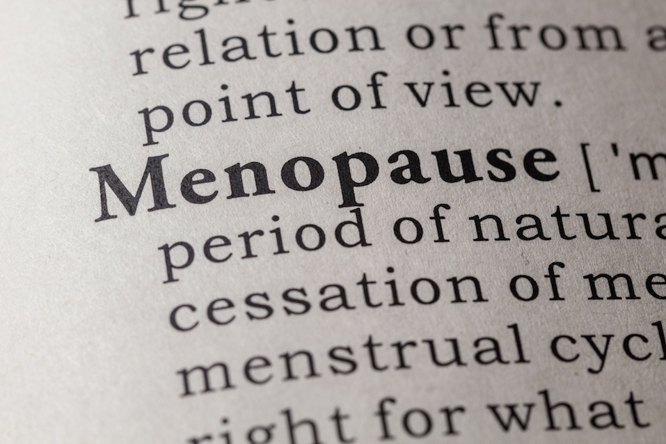 """a dictionary with """"menopause"""" written"""