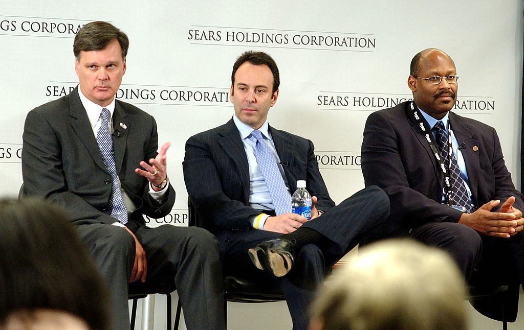 Alan J. Lacy, vice chairman and CEO of Sears Holdings; Edward S. Lampert, chairman of Sears Holdings; and Aylwin B. Lewis, president of Sears Holdings and CEO of Kmart and Sears Retail