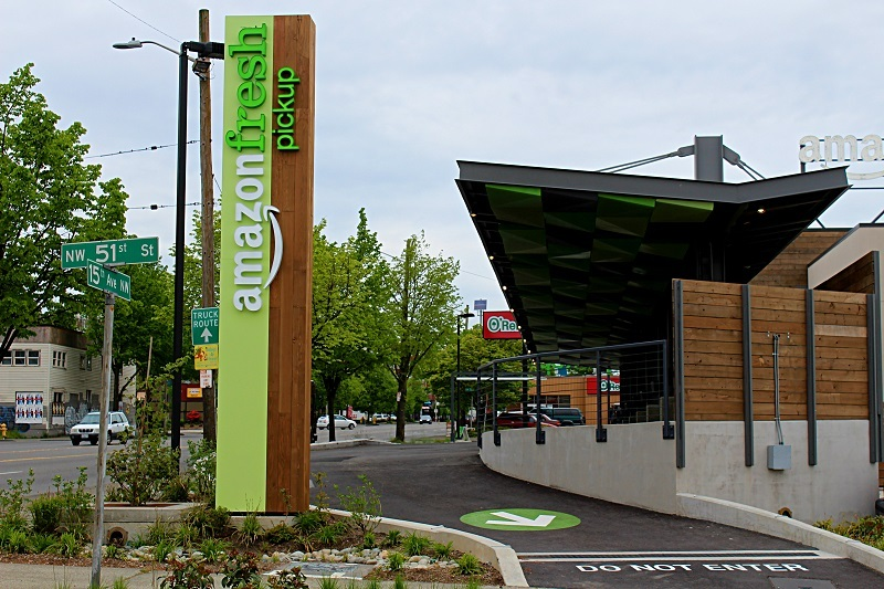 The exit to the Ballard Fresh pickup location