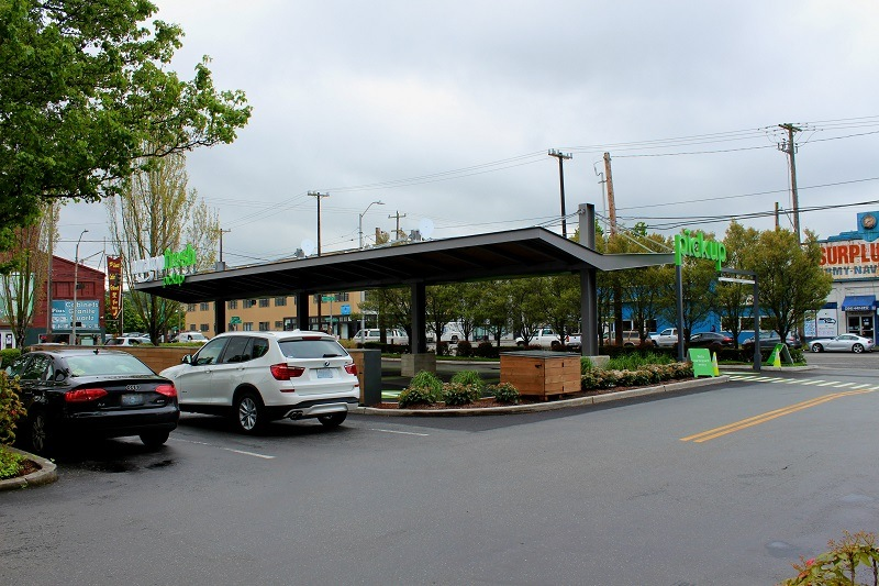 Another view of the Sodo pickup area