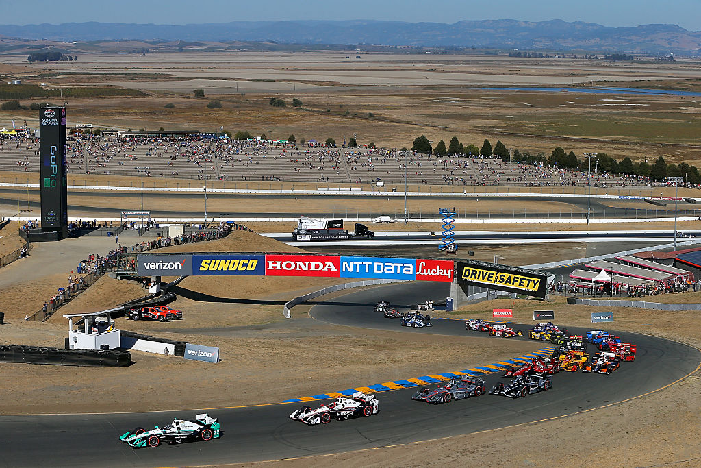 The Start of the GoPro Grand Prix of Sonoma