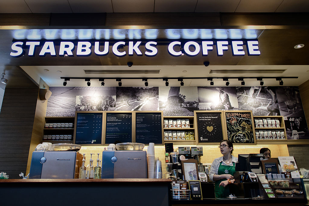 starbucks counter