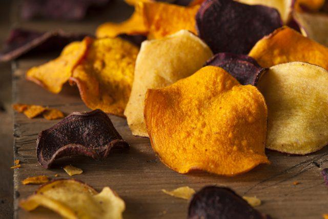 Baking chips is a much better method than frying them.