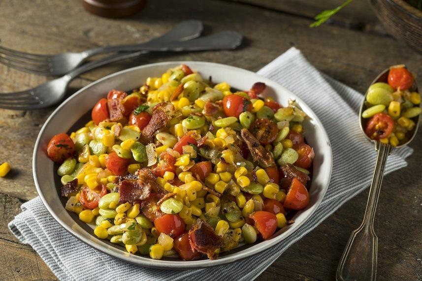 Succotash with lima beans