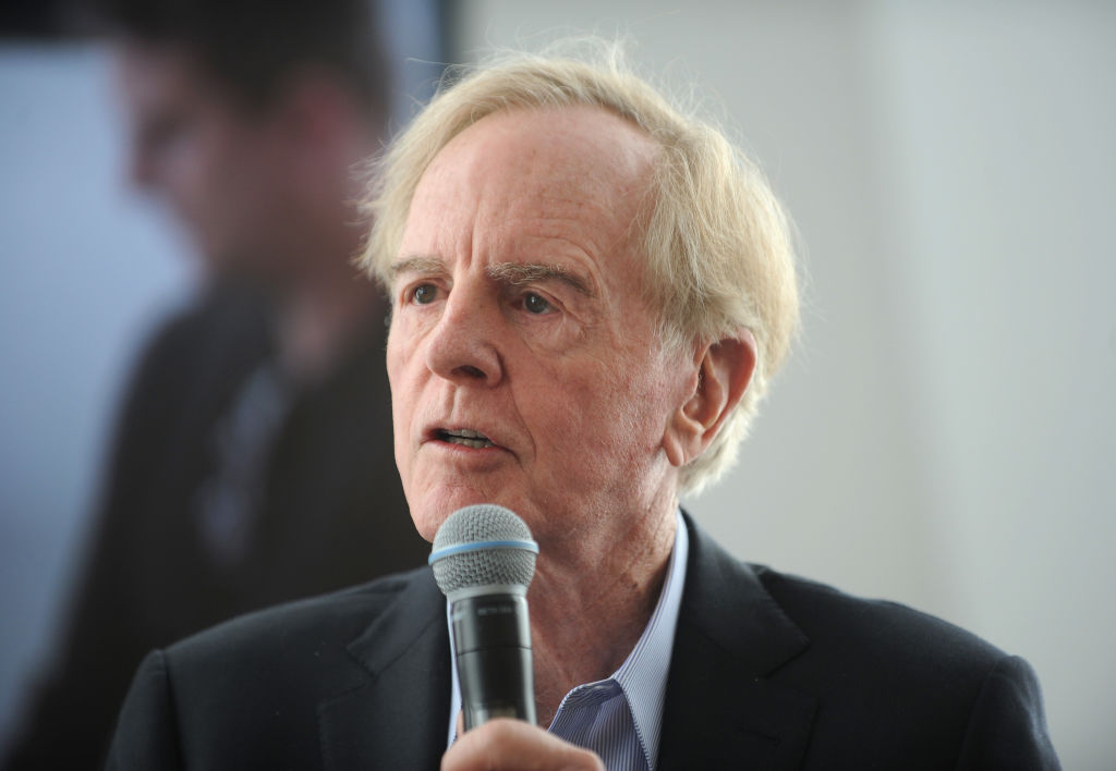John Sculley speaks onstage at the Kairos Society Global Summit At One World Observatory