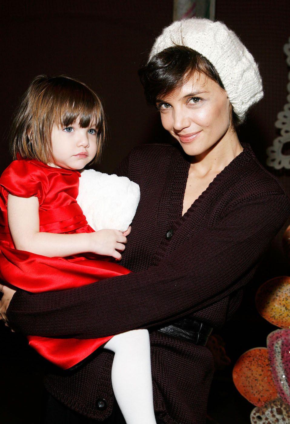 "Katie Holmes And Daughter Suri Visit ""The Nutcracker"""
