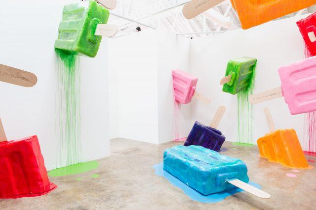 melting popsicle jungle at the museum of ice cream