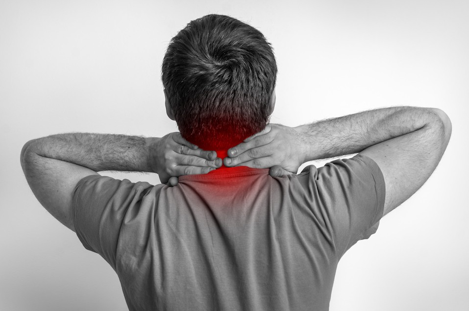 Man with pain in his neck
