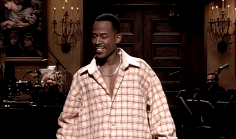 Martin Lawrence stands on stage at Saturday Night Live