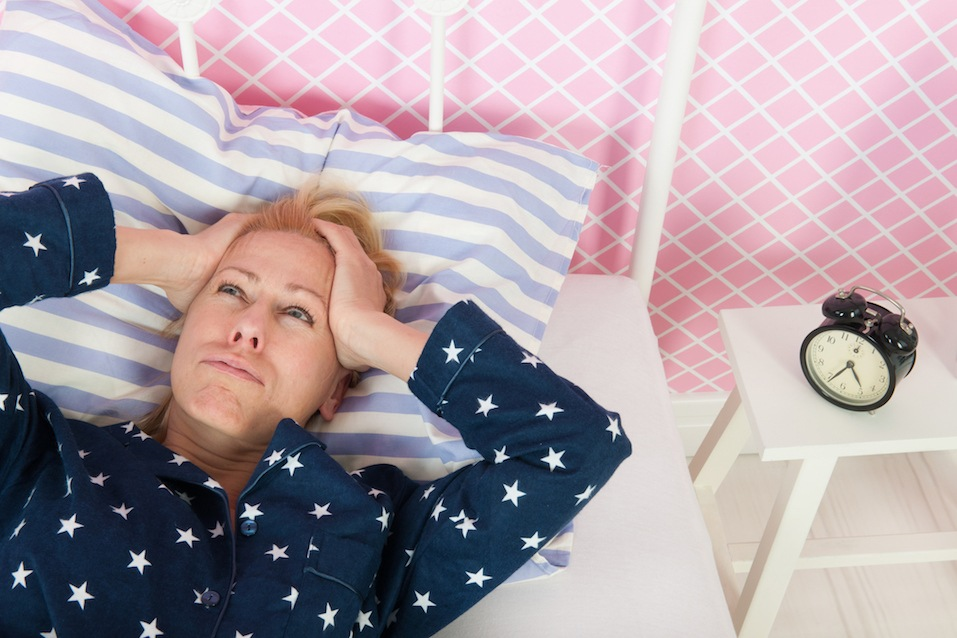 Mature woman with insomnia