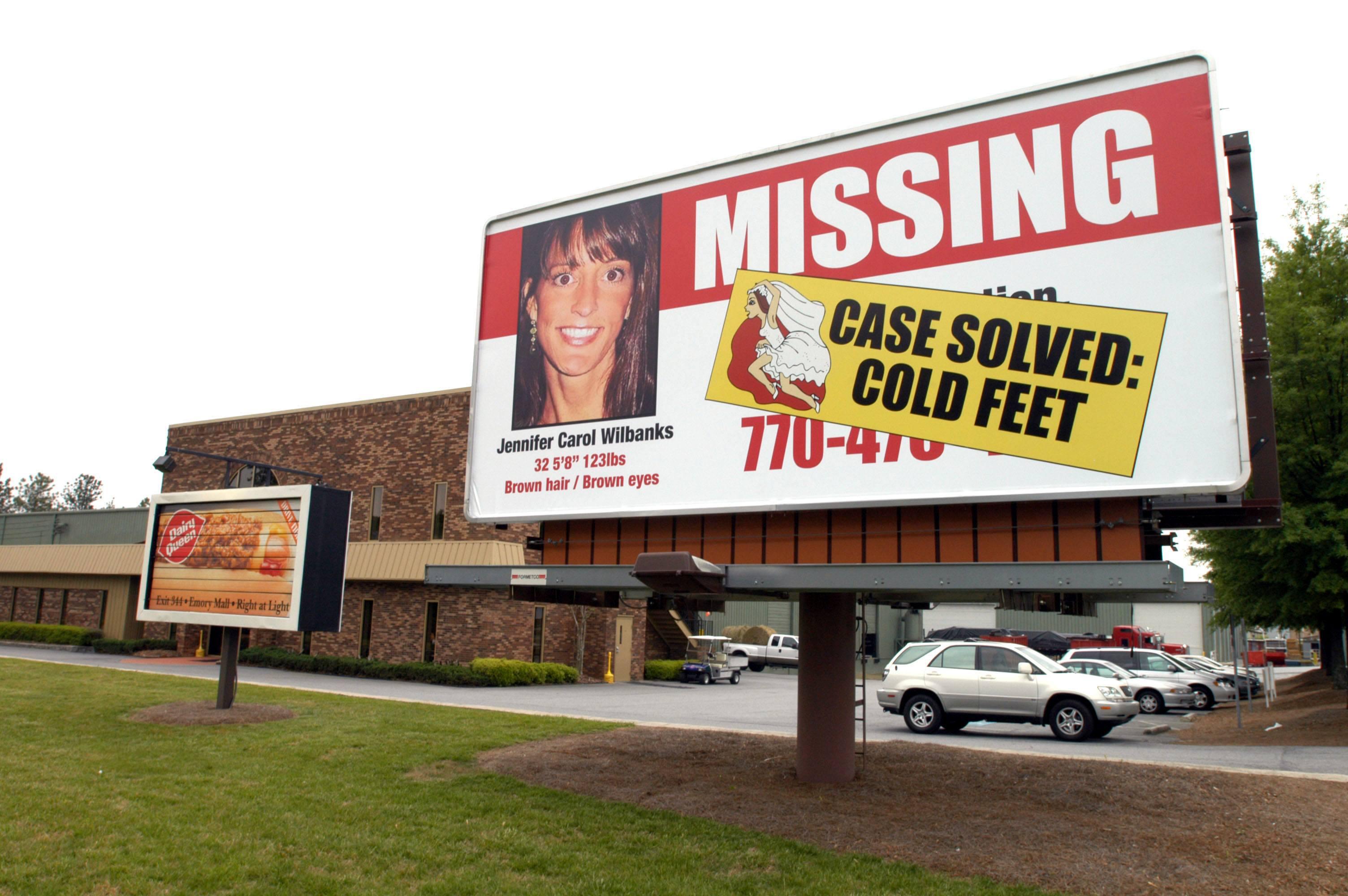 A missing persons billboard