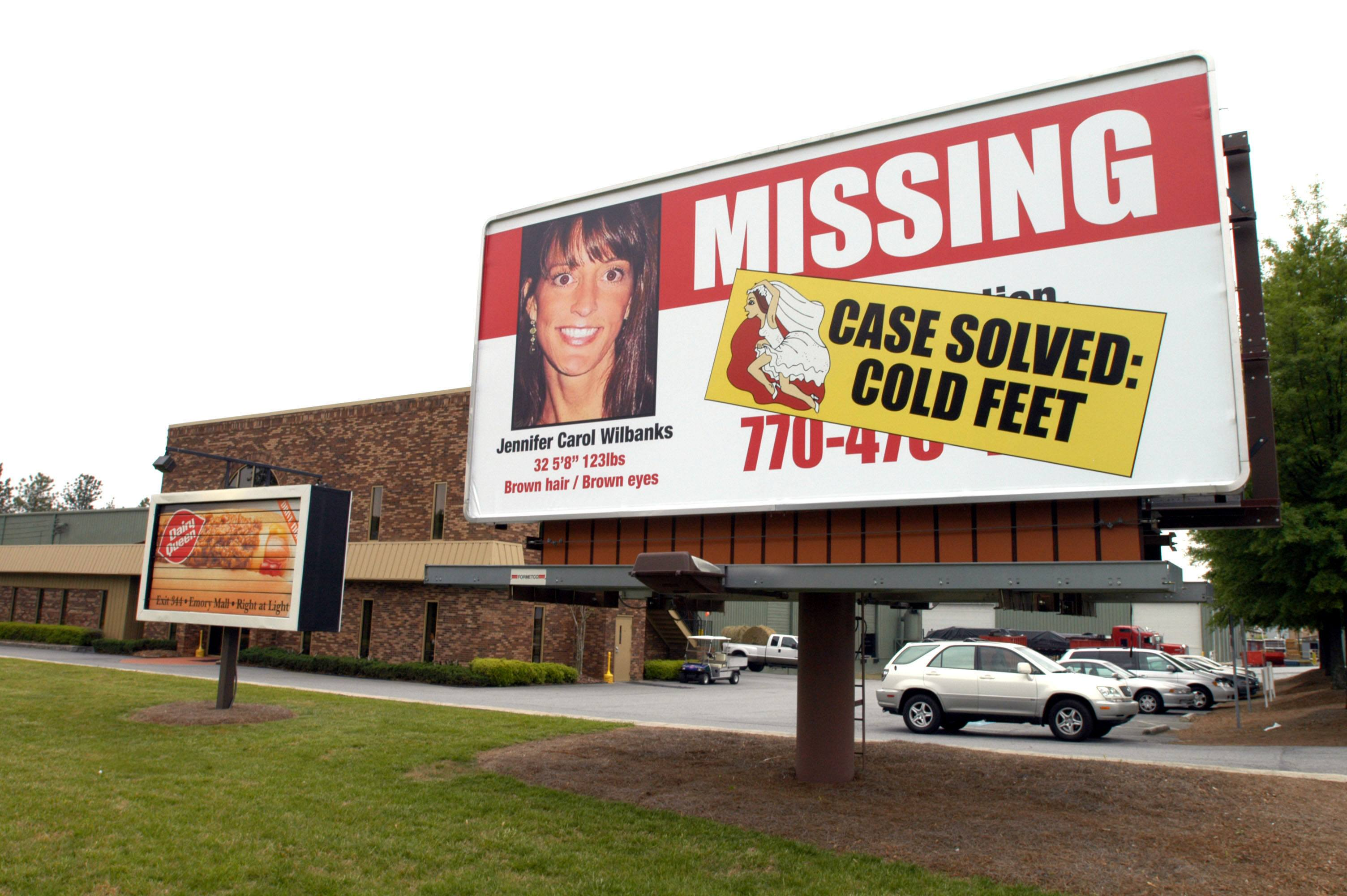 A missing persons billboard