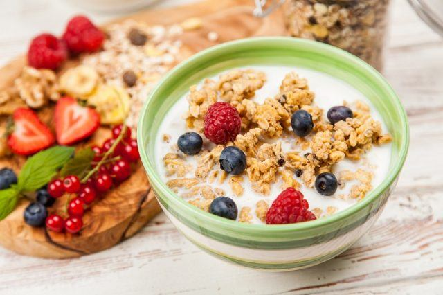 FiberOne breakfast cereal is packed with protein and fiber.