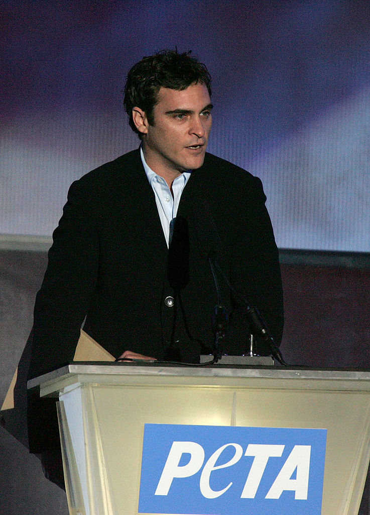 Joaquin Phoenix on stage