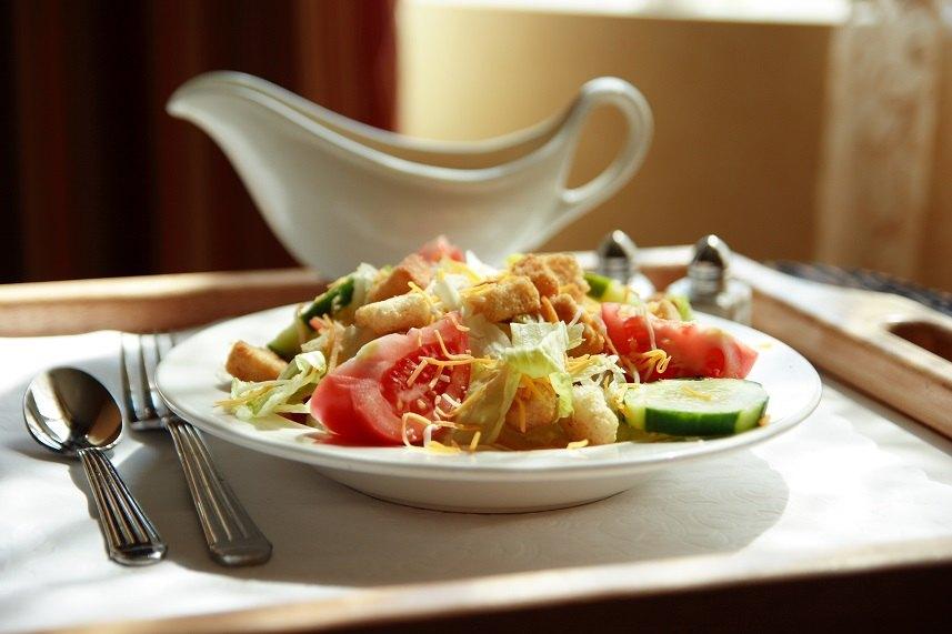 Generic salad on room service