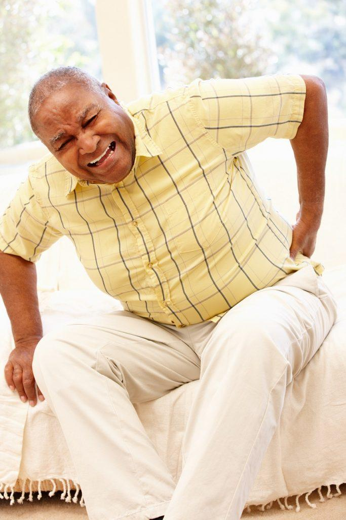 African American man with backache
