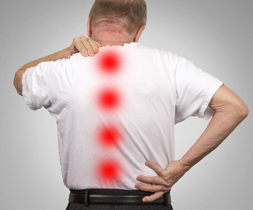 elderly man with backache
