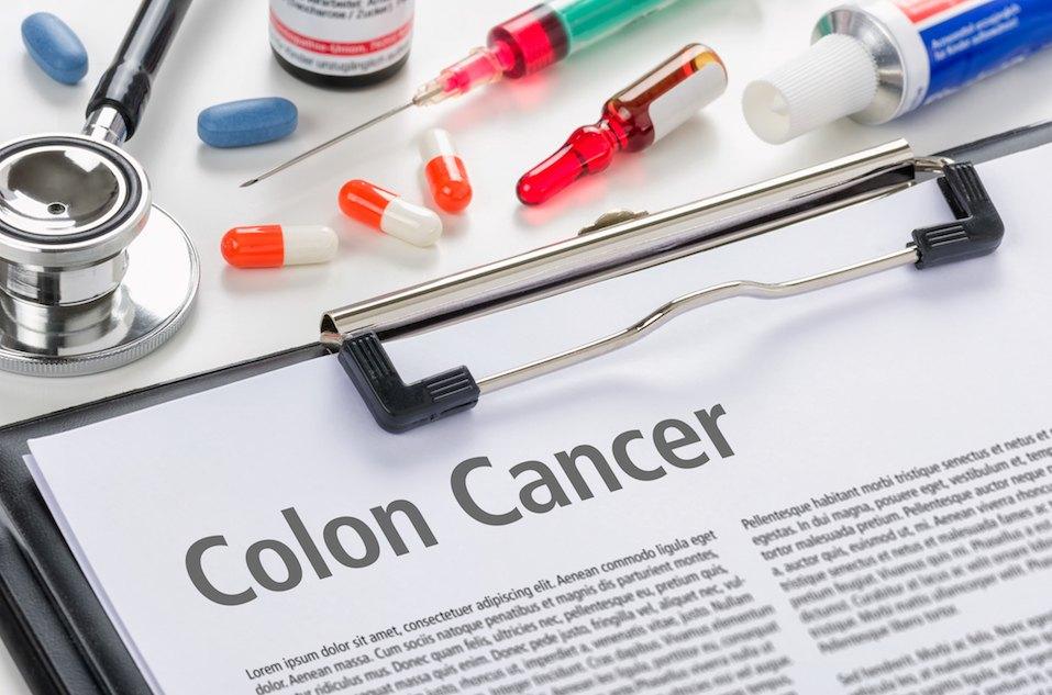 The diagnosis Colon Cancer written on a clipboard