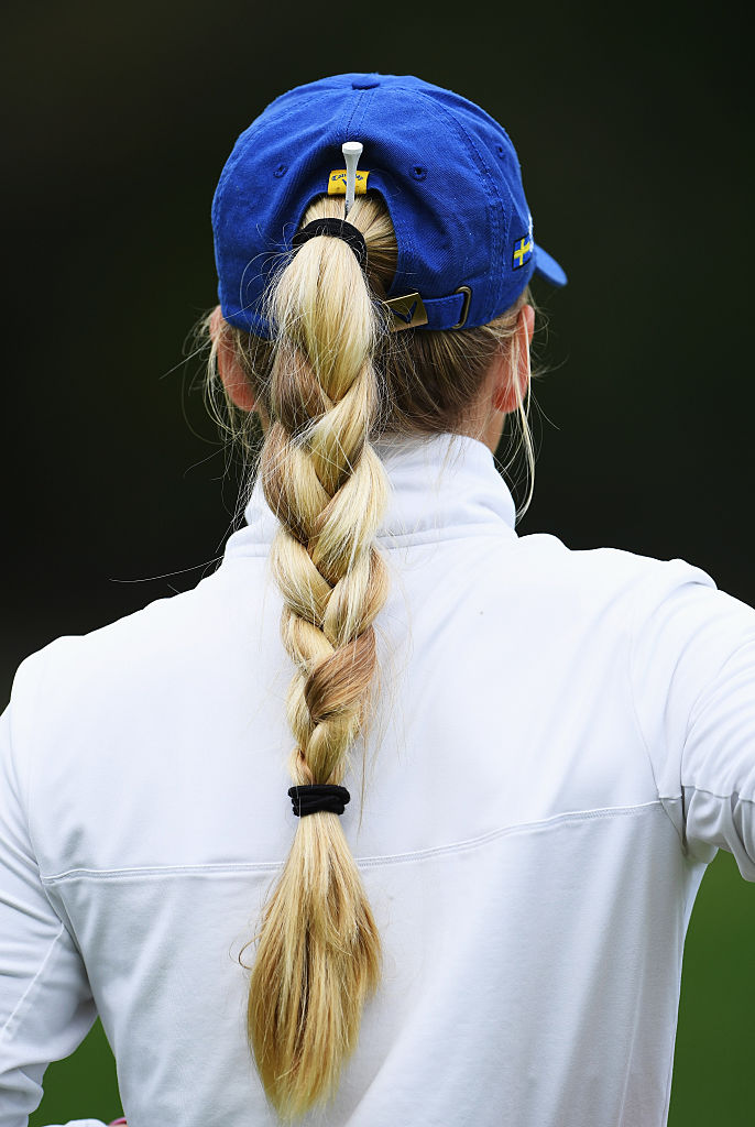 The hair of Julia Engstrom of Sweden