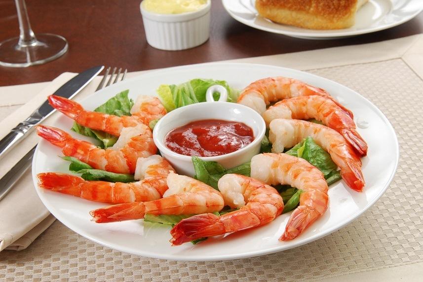 An appetizer plate of tiger shrimp