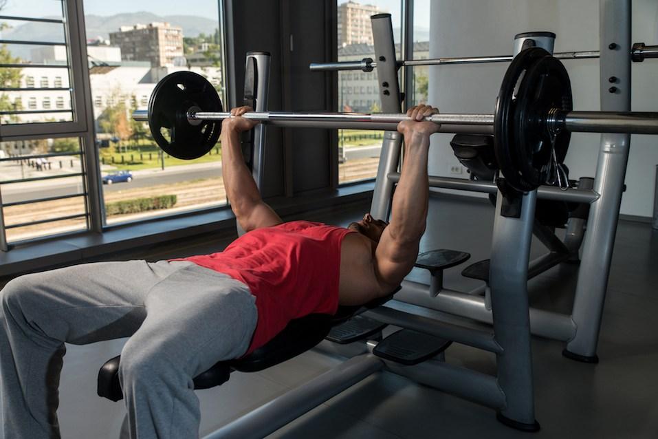 Weightlifter On Benchpress