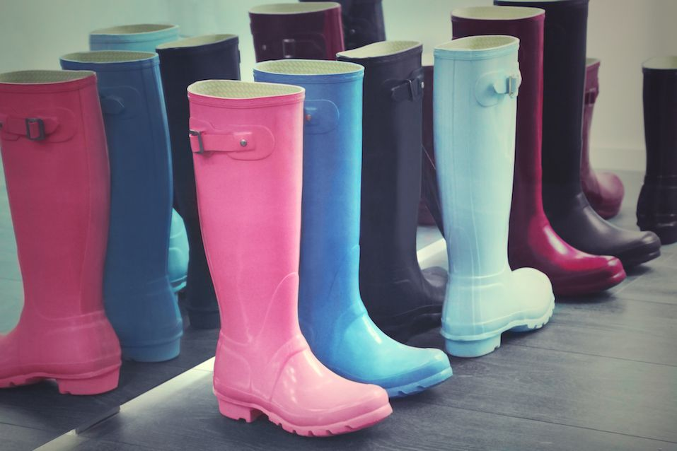 Rubber boots in different colors