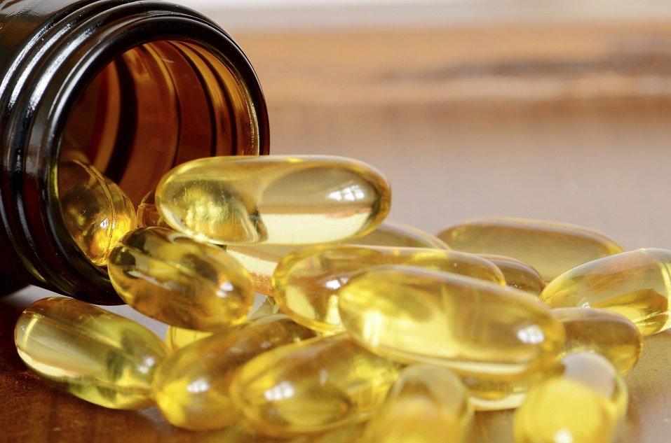 Yellow transparent capsules