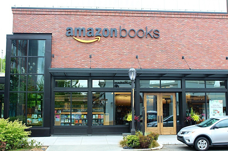 The Amazon Books storefront exterior