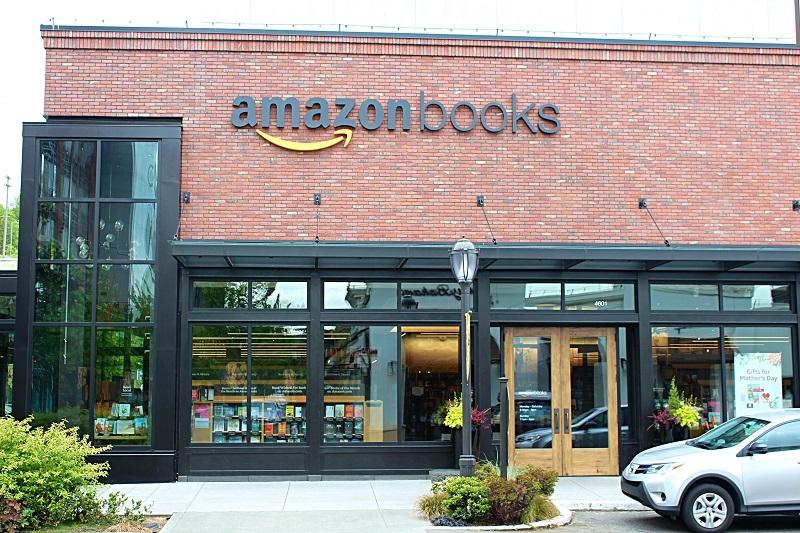 The Amazon Books storefront exterior