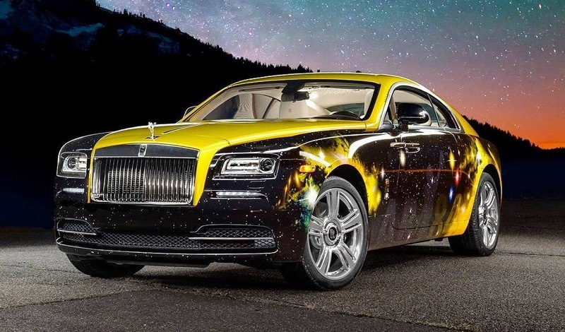 Antonio Brown Rolls Royce Wraith with custom Steelers-themed wrap
