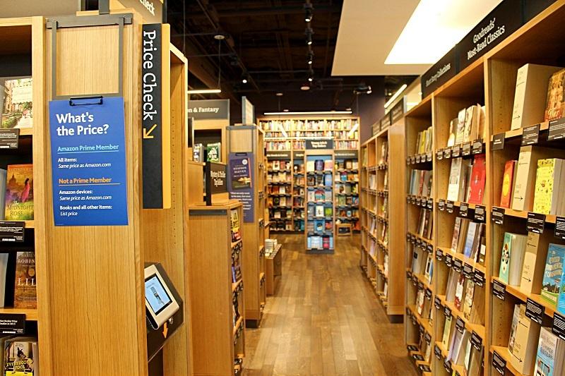Inside the Amazon Books store