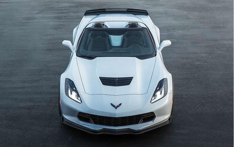 Overhead shot of 2017 Chevy Corvette Z06 convertible