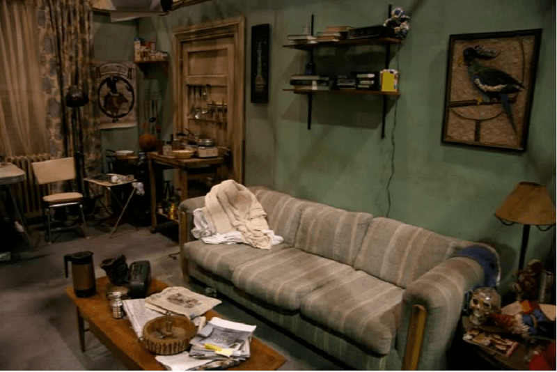 "Charlie and Frank's awful apartment in ""It's Always Sunny in Philadelphia"""