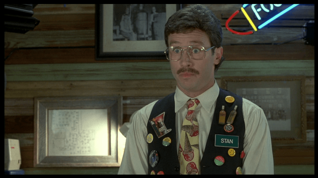 """Stan, the manager at Chotchkies in """"Office Space"""", appears ready for a raise."""