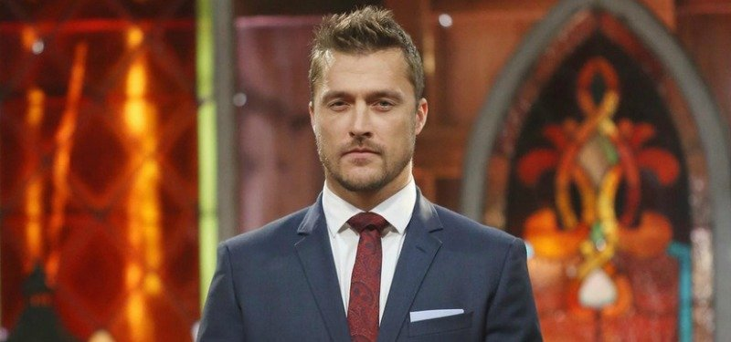 Chris Soules looks serious and is wearing a suit.