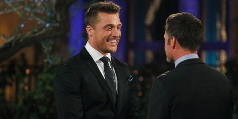 Chris Soules is talking to Chris Harrison.